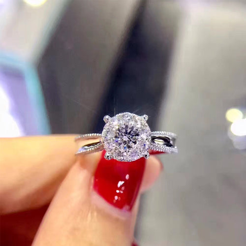 ANI 18K White Gold (AU750) Women Wedding Ring Certified G/VS1 0.28 Carat Real Diamond Ring Luxury Design Female Jewelry Custom - Jewelrygem