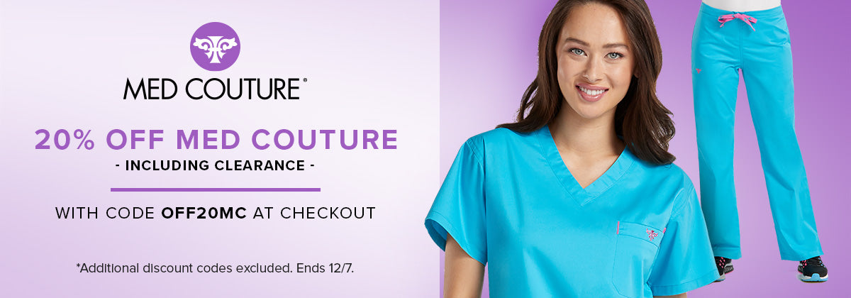 Take 20% off Med Couture - including clearance - with code OFF20MC at checkout