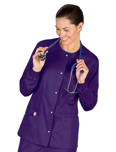 Cherokee Luxe Snap Front Scrub Jacket