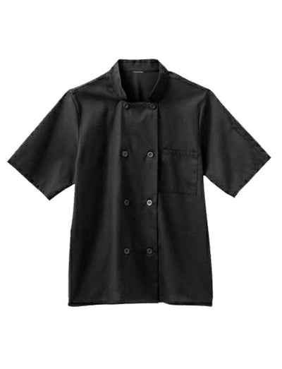 Five Star Chef Apparel Unisex Short Sleeve Moisture Wicking with Mesh Back Chef Coat