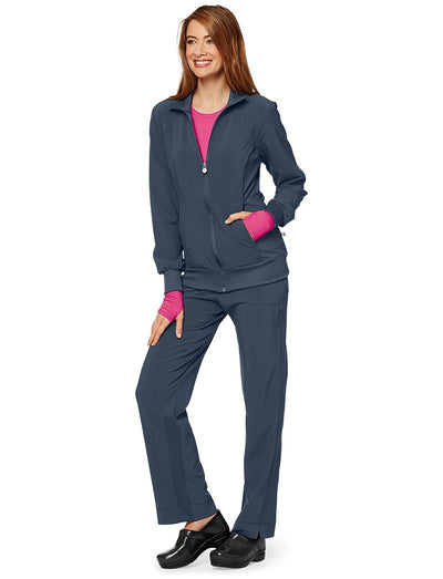 Cherokee Infinity Antimicrobial Zip Front Scrub Jacket