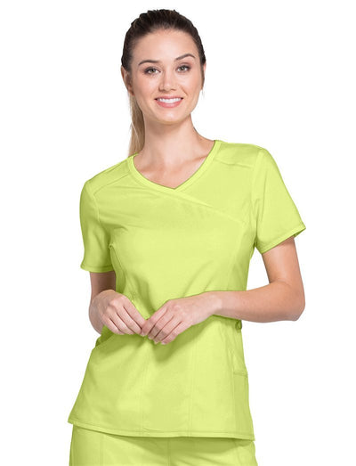 Cherokee Infinity Clearance Antimicrobial Mock Wrap Scrub Top