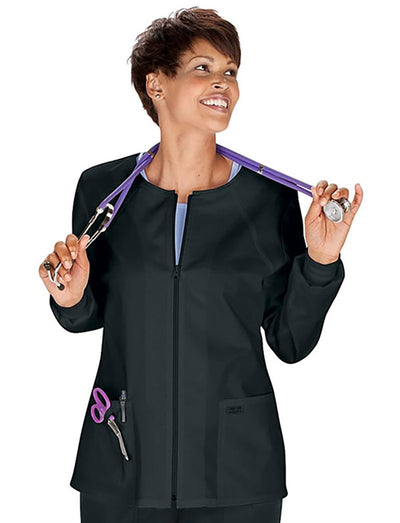 Cherokee Workwear Core Stretch Zip Front Warm-up Scrub Jacket