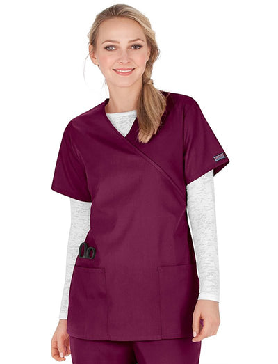 Cherokee Workwear Originals Mock Wrap Tunic Scrub Top
