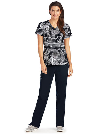 Barco One Origami Print Scrub Top