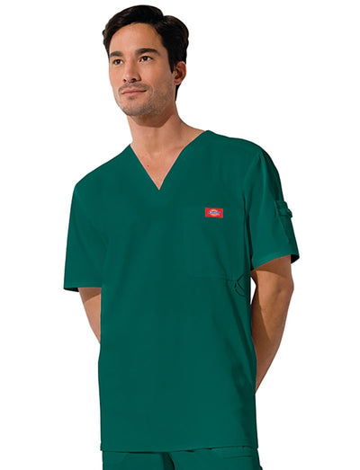 Dickies Gen Flex Mens 1-Pocket V-Neck Scrub Top
