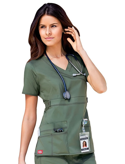 Dickies Gen Flex Mock Wrap Scrub Top