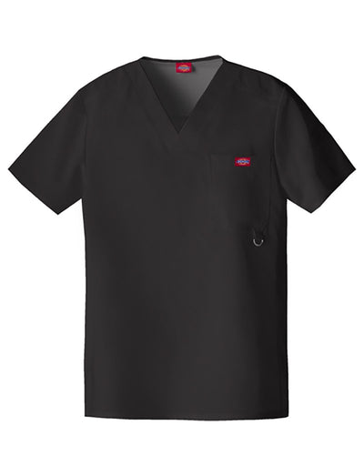 Dickies Xtreme Stretch Mens 1-Pocket V-Neck Scrub Top