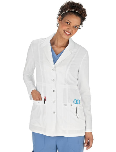 Dickies Xtreme Stretch 28in Snap Front Lab Coat
