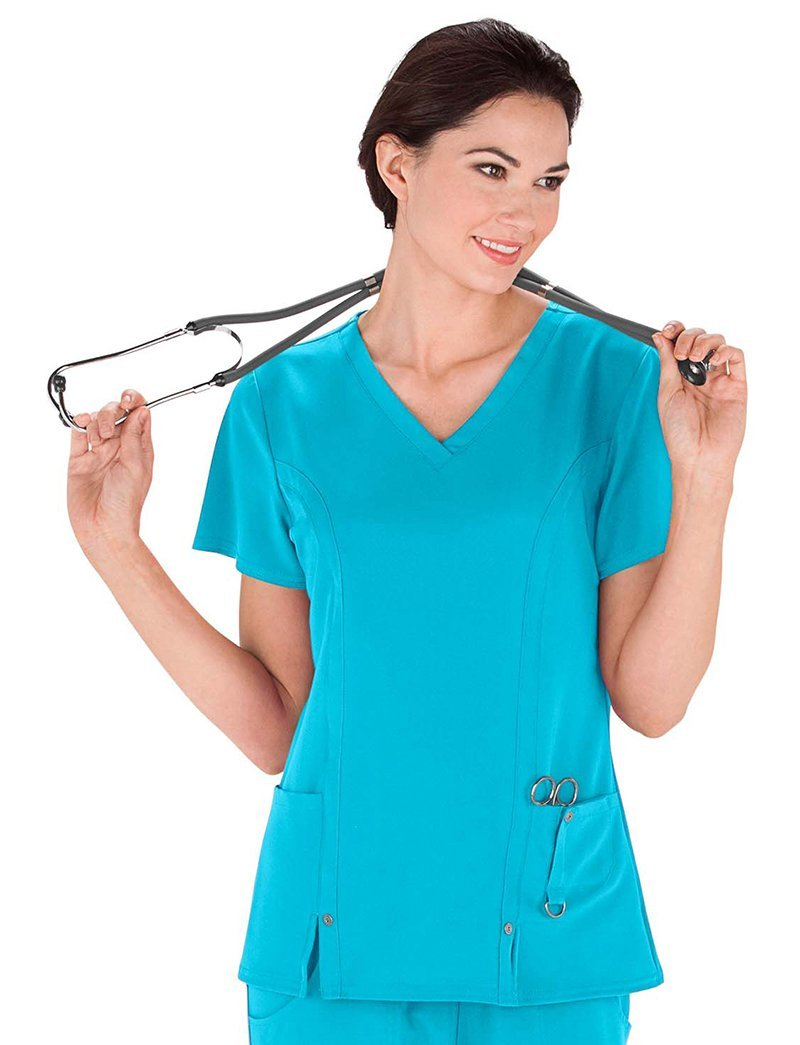 Dickies Xtreme Stretch Clearance V-Neck Scrub Top