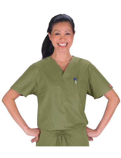 Dickies EDS Unisex V-Neck Scrub Top