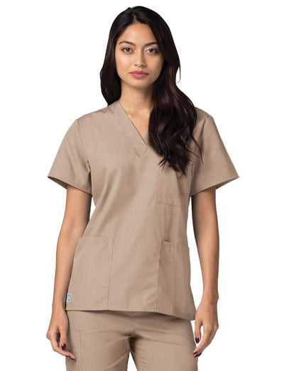 Adar Universal Unisex 3-Pocket V-Neck Scrub Top
