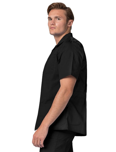 Adar Universal Mens Zip Front Short Sleeve Scrub Jacket