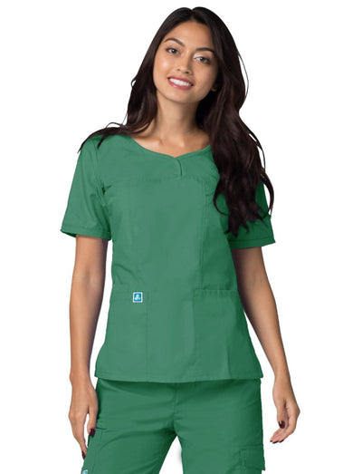 Adar Universal Sweetheart V-Neck Scrub Top