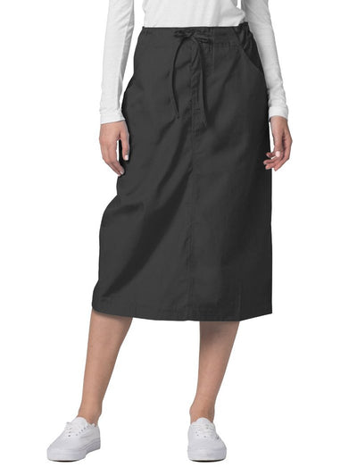 Adar Universal Mid-Calf Length Drawstring Skirt