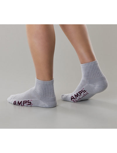 AMPS Ladies CoolMax Quarter Crew Socks