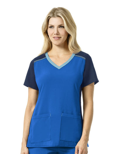 Carhartt Cross-Flex Multi-Color V-Neck Scrub Top