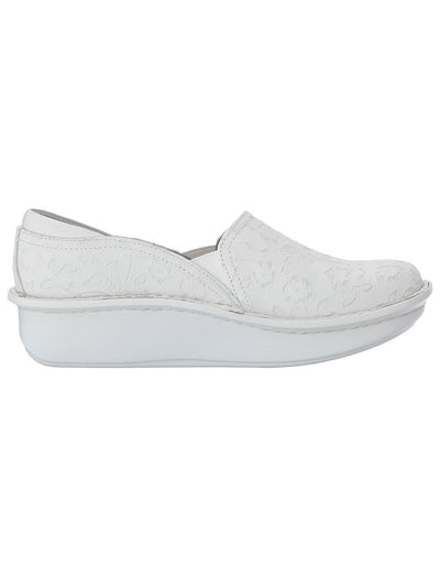 Alegria Morning Glory White Debra Clog
