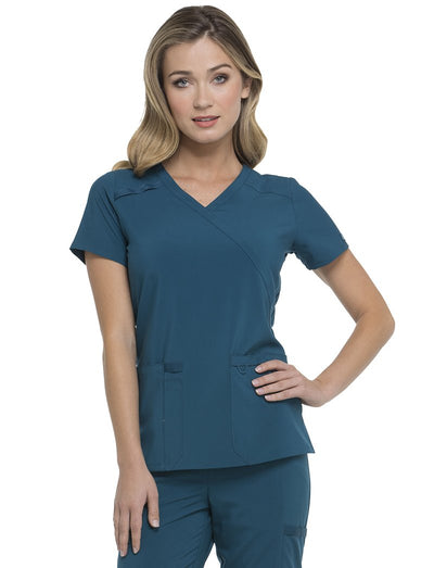 Dickies EDS Essentials Mock Wrap Scrub Top
