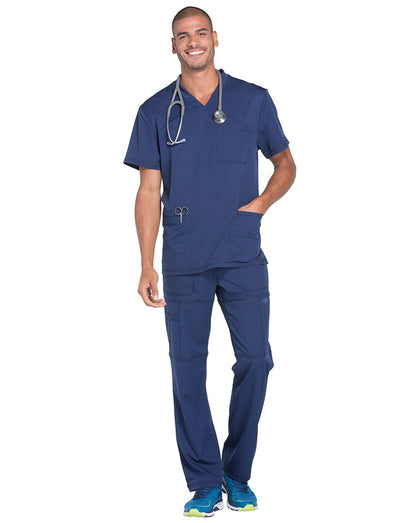 Dickies Dynamix Mens 3-Pocket V-Neck Scrub Top
