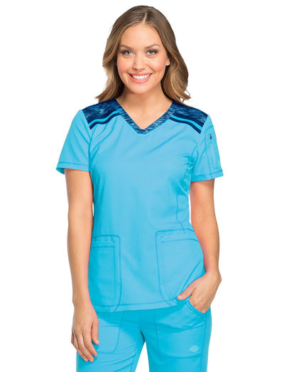Dickies Dynamix Contrast V-Neck Scrub Top