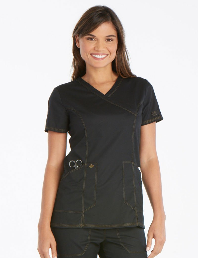 Dickies Essence Mock Wrap Scrub Top