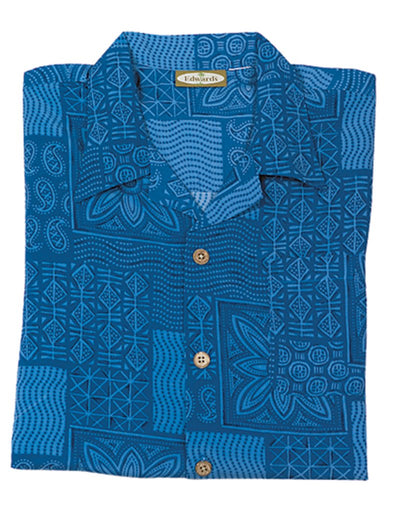 Edwards Ladies Geometric Camp Shirt