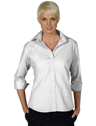 Edwards Ladies Lightweight Open Neck Poplin 3/4 Sleeve Blouse