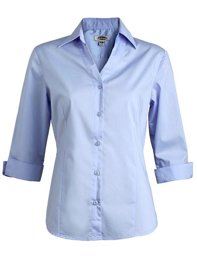 Edwards Ladies Tailored V-Neck Stretch Blouse