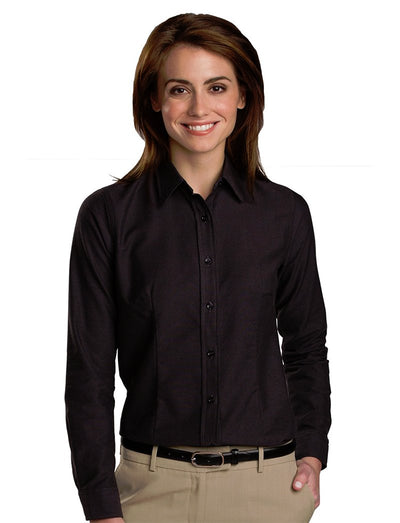 Edwards Ladies Contemporary Easy Care Oxford Shirt