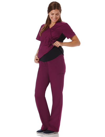 Fundamentals Maternity Scrub Pant with Stretch Panel