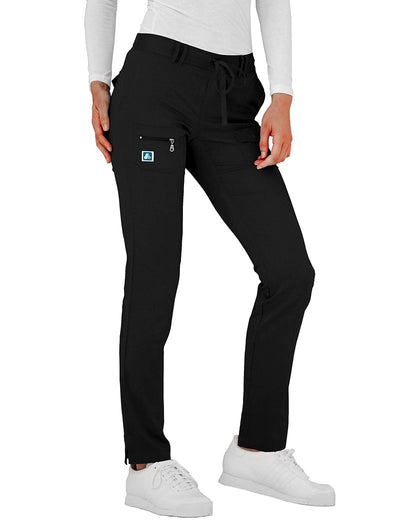 Adar Indulgence 6-Pocket Low Rise Tapered Leg Scrub Pant