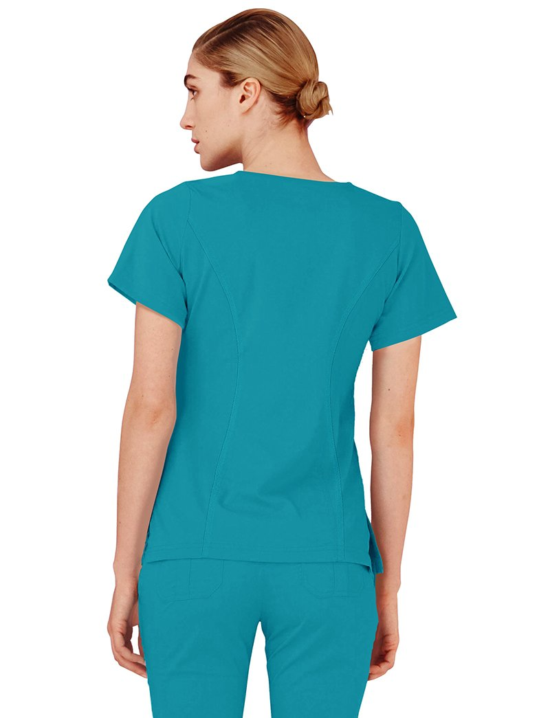 Adar Indulgence Enhanced V-Neck Scrub Top