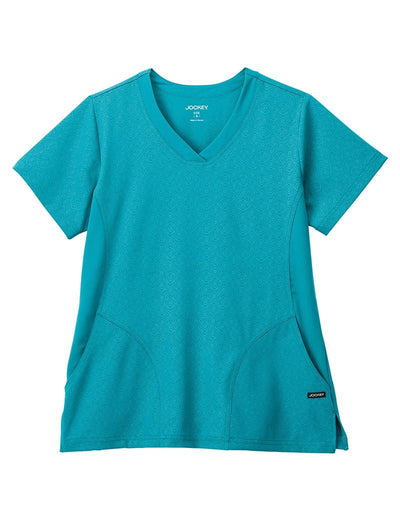Jockey Classic Embossed V-Neck Scrub Top