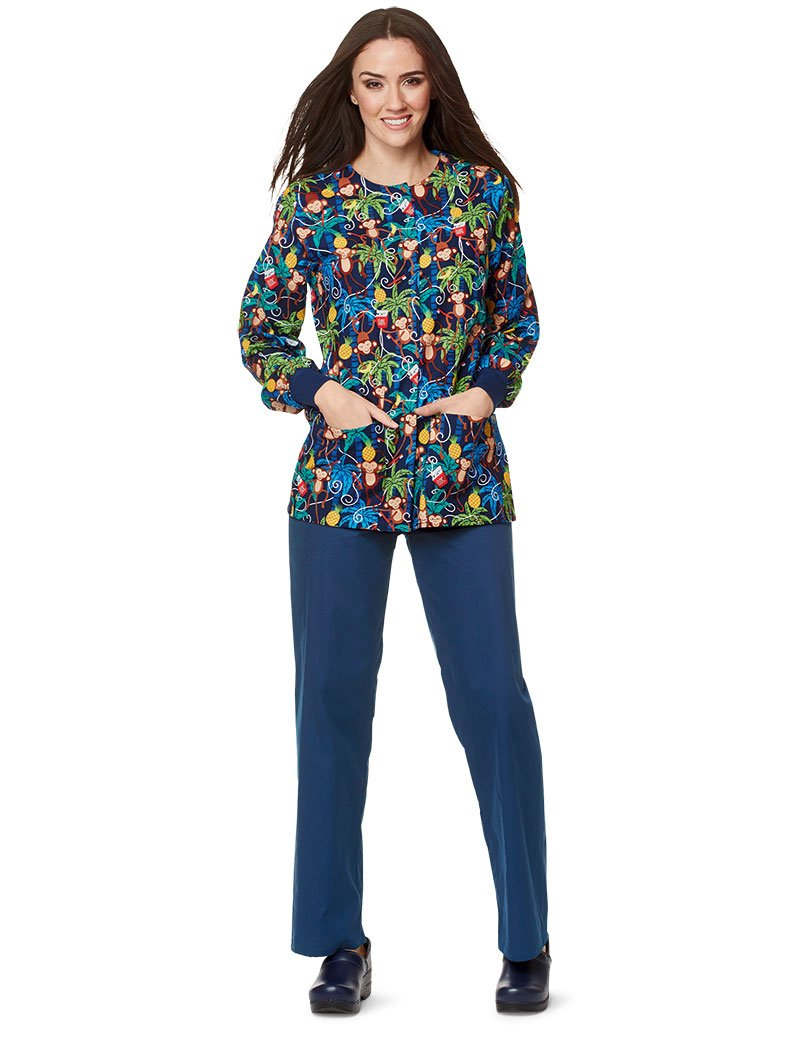 Mad About Mouths MAM Floss is Boss Navy Crew Neck Print Jacket