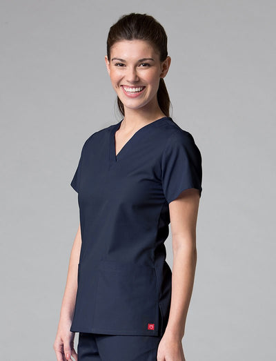 Maevn Red Panda Two-Pocket V-Neck Scrub Top