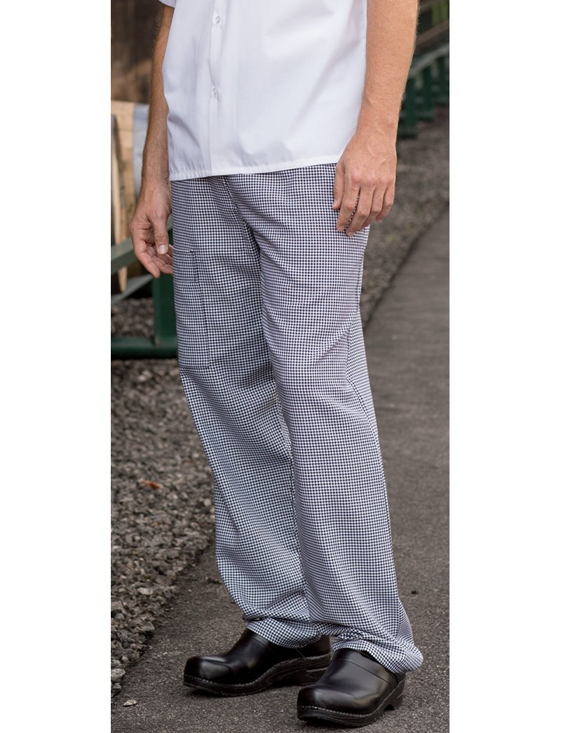 Uncommon Threads Unisex Cargo Chef Pant,Hounds Tooth,Large