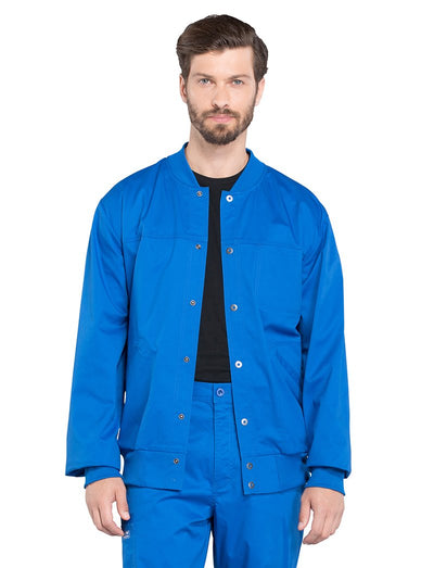 Cherokee Workwear Core Stretch Mens Snap Front Warm-Up Scrub Jacket