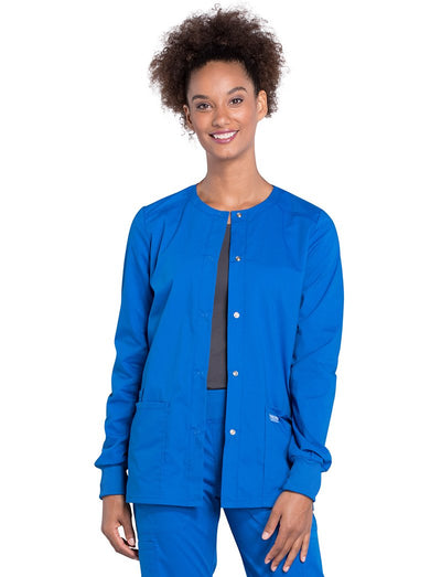 Cherokee Workwear Professionals Snap Front Warm-Up Scrub Jacket