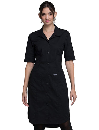 Cherokee Workwear Professionals Button Front Dress