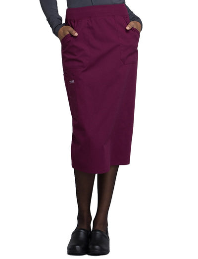 Cherokee Workwear Professionals Knit Waistband Skirt