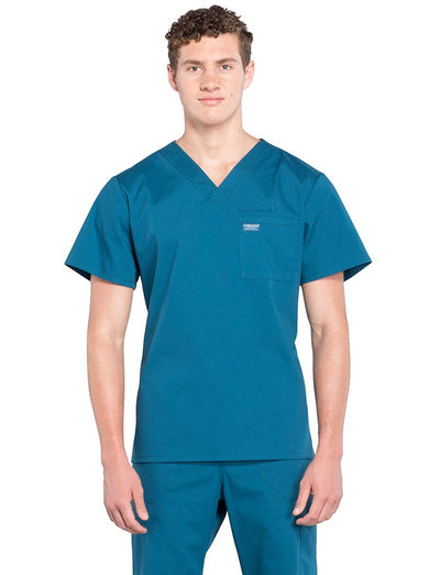 Cherokee Workwear Professionals Mens 1-Pocket V-Neck Scrub Top