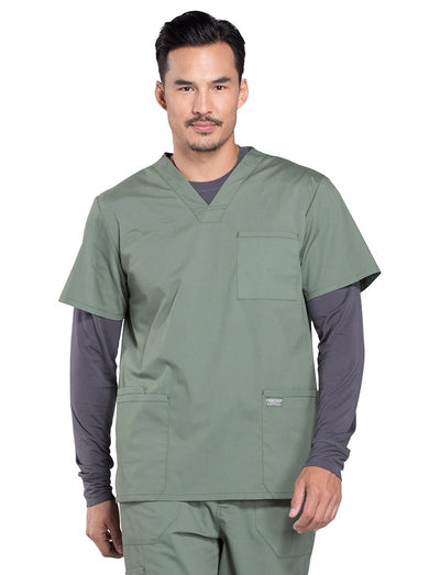Cherokee Workwear Professionals Mens 3-Pocket V-Neck Scrub Top
