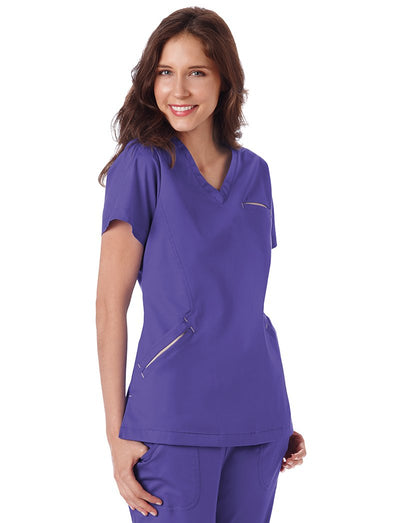 BIO Stretch Angle V-Neck Scrub Top