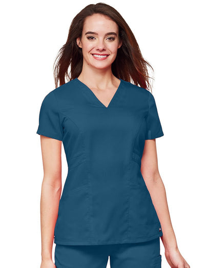 Grey's Anatomy Solid Marquis Style Scrub Top