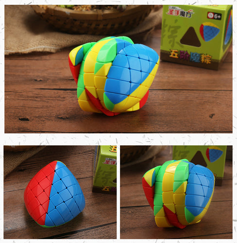 Newest 5x5 Mastermorphix Stickerless Colorful Cube Puzzle