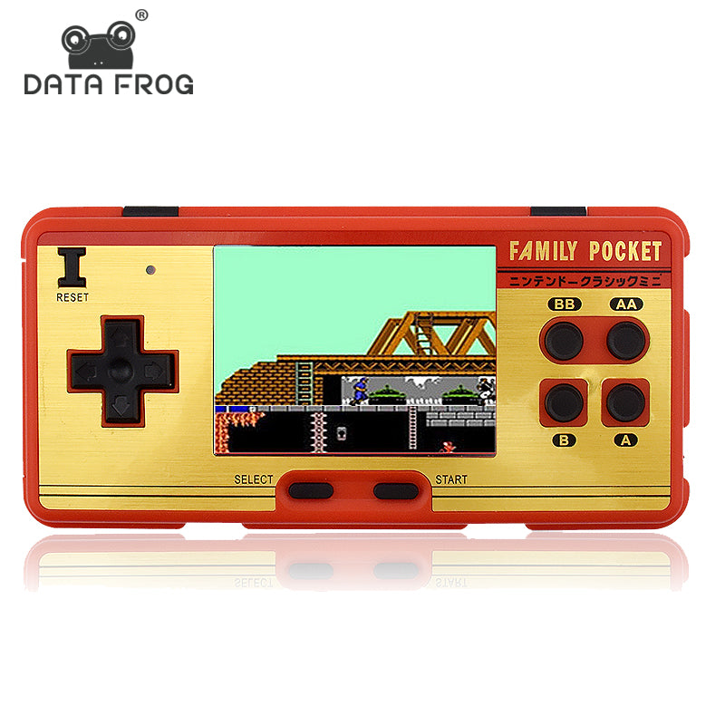 Data Frog Portable Built in 638 Classic Games Console 8 Bit Retro Support AV Out Put