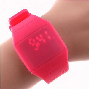 Candy Color Kids Sport Silicone Band Touch LED Digital Watches