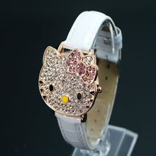 Hello Kitty Crystal Dress Quartz Wristwatch Relogio Feminino