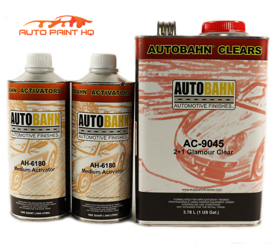 Super Wet PLUS Glamour Clear Coat Gallon + Act 2:1 Mix Autobahn Car Vehicle Kit